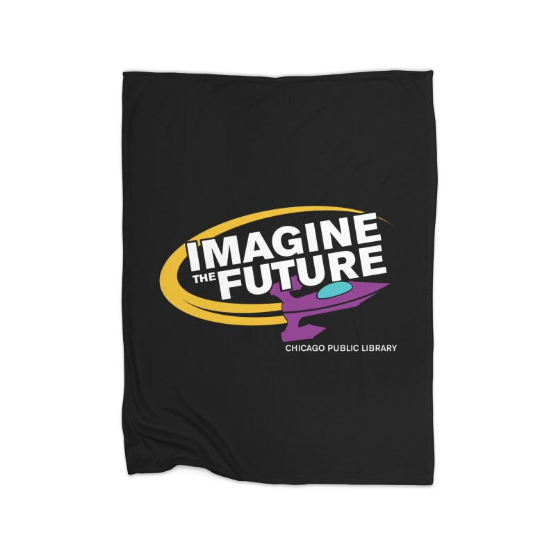 One Book, One Chicago 2018 Imagine the Future Rocket Home Fleece Blanket Blanket by Chicago Public Library Artist Shop