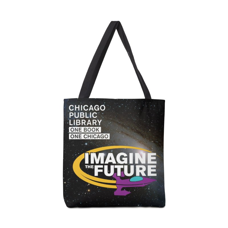 One Book, One Chicago 2018 Imagine the Future Rocket Starfield Accessories Bag by Chicago Public Library Artist Shop