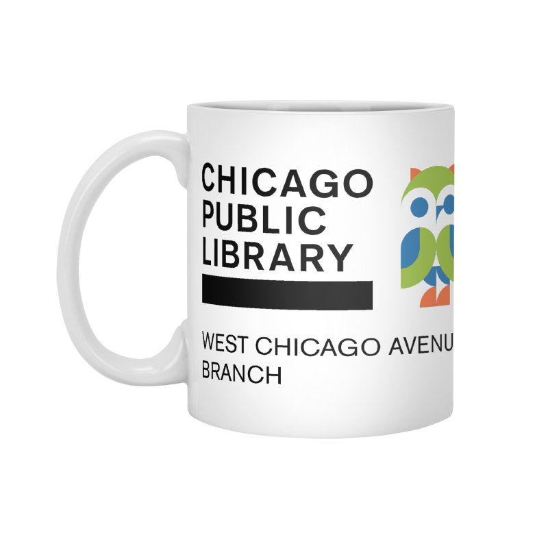 West Chicago Avenue Branch Accessories Standard Mug by Chicago Public Library Artist Shop