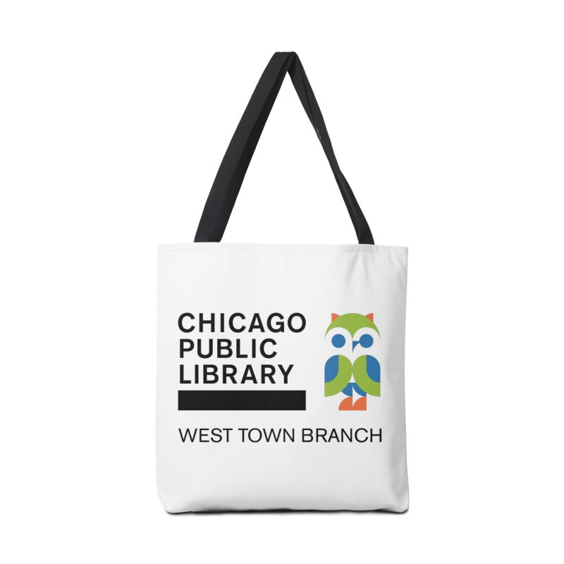West Town Branch Accessories Tote Bag Bag by Chicago Public Library Artist Shop