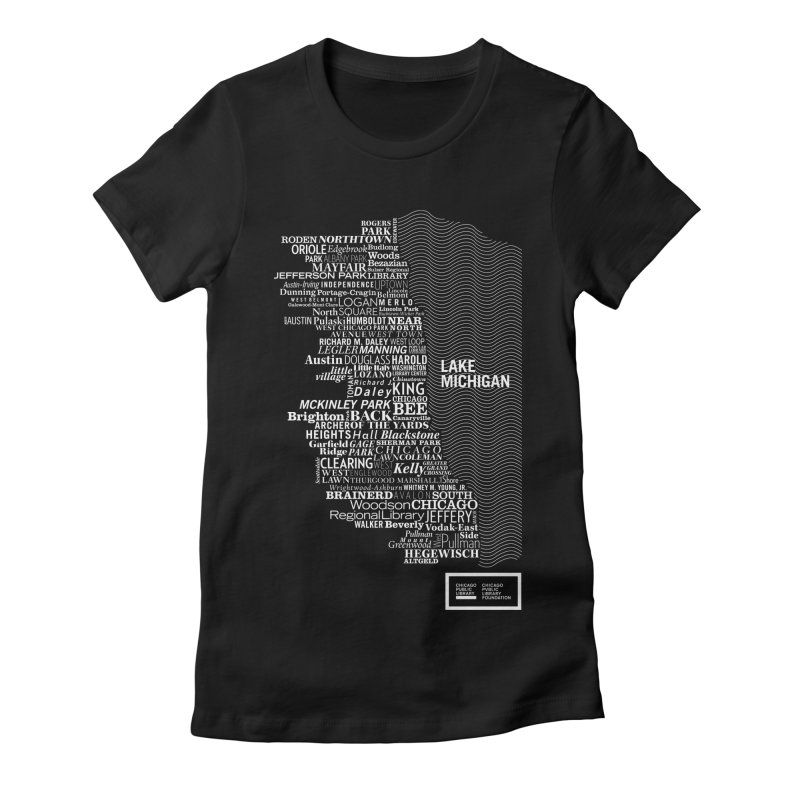 Chicago Public Library Map Women's Fitted T-Shirt by Chicago Public Library Artist Shop
