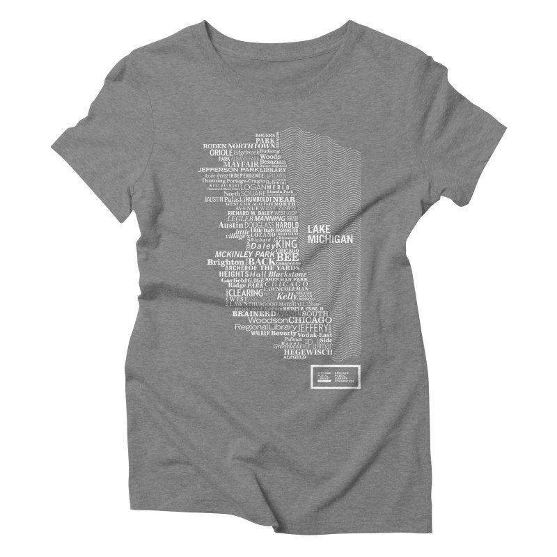 Chicago Public Library Map Women's Triblend T-Shirt by Chicago Public Library Artist Shop