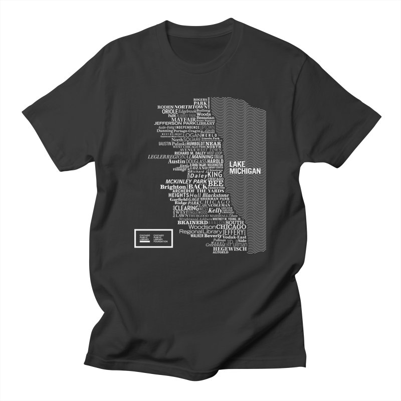 Chicago Public Library Map in Men's Regular T-Shirt Smoke by Chicago Public Library Artist Shop