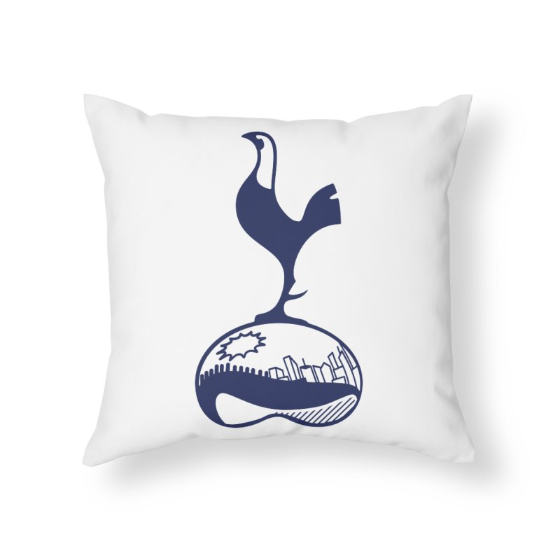 Logo Navy Home Throw Pillow by chicagospurs's Artist Shop
