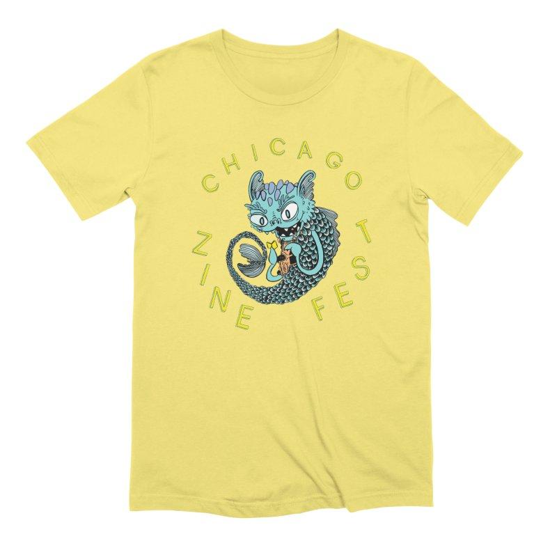 Chicago Zine Fest 2019 Artwork (by Neil Brideau) in Men's Extra Soft T-Shirt Light Yellow by Chicago Zine Fest Merch