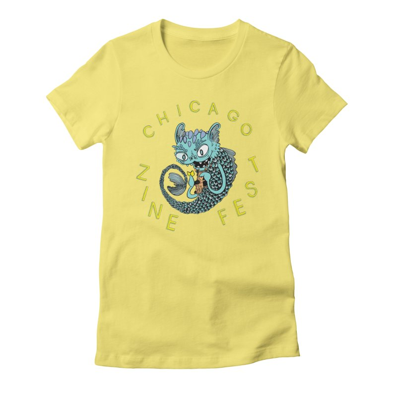 Chicago Zine Fest 2019 Artwork (by Neil Brideau) Women's Fitted T-Shirt by Chicago Zine Fest Merch