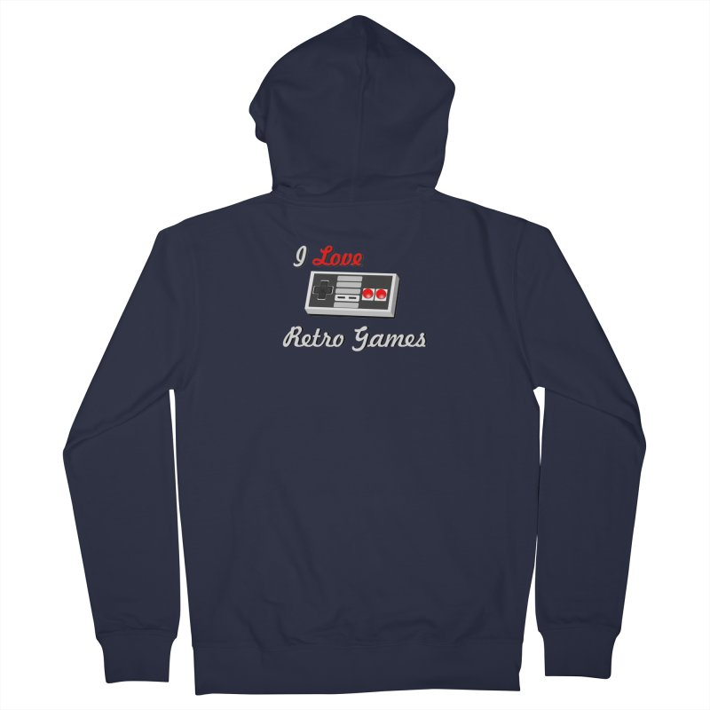 I Love Retro Games Men's French Terry Zip-Up Hoody by chicharostudios's  Shop