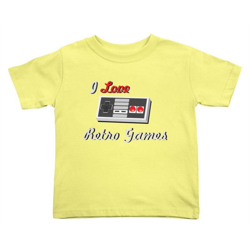 I Love Retro Games Kids Toddler T-Shirt by chicharostudios's  Shop
