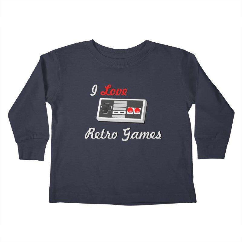 I Love Retro Games Kids Toddler Longsleeve T-Shirt by chicharostudios's  Shop