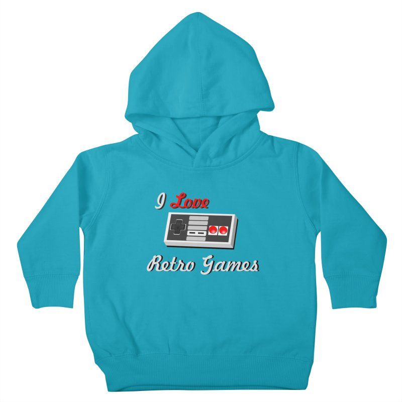 I Love Retro Games Kids Toddler Pullover Hoody by chicharostudios's  Shop
