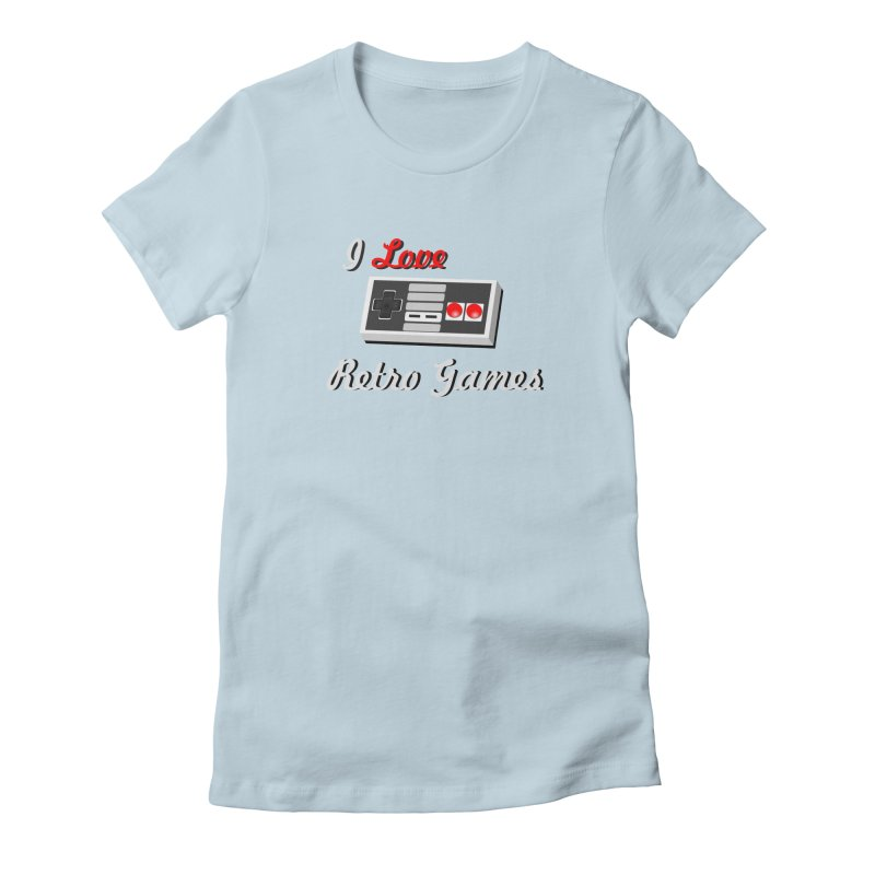 I Love Retro Games Women's Fitted T-Shirt by chicharostudios's  Shop