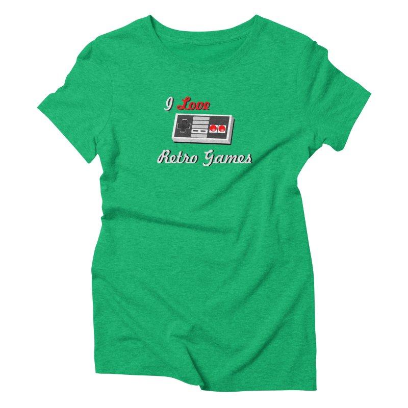 I Love Retro Games Women's Triblend T-Shirt by chicharostudios's  Shop