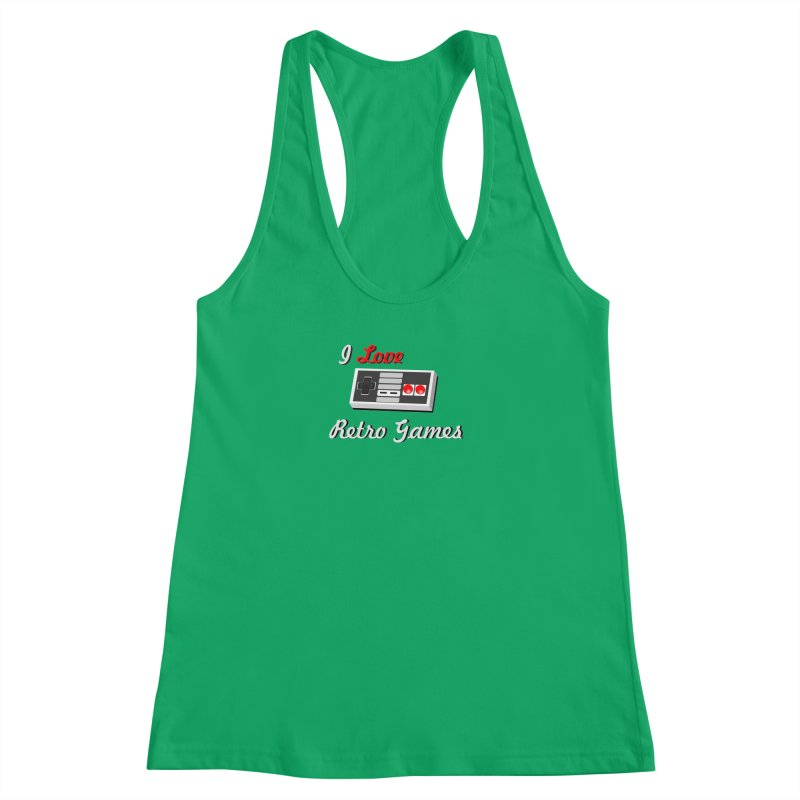 I Love Retro Games Women's Racerback Tank by chicharostudios's  Shop