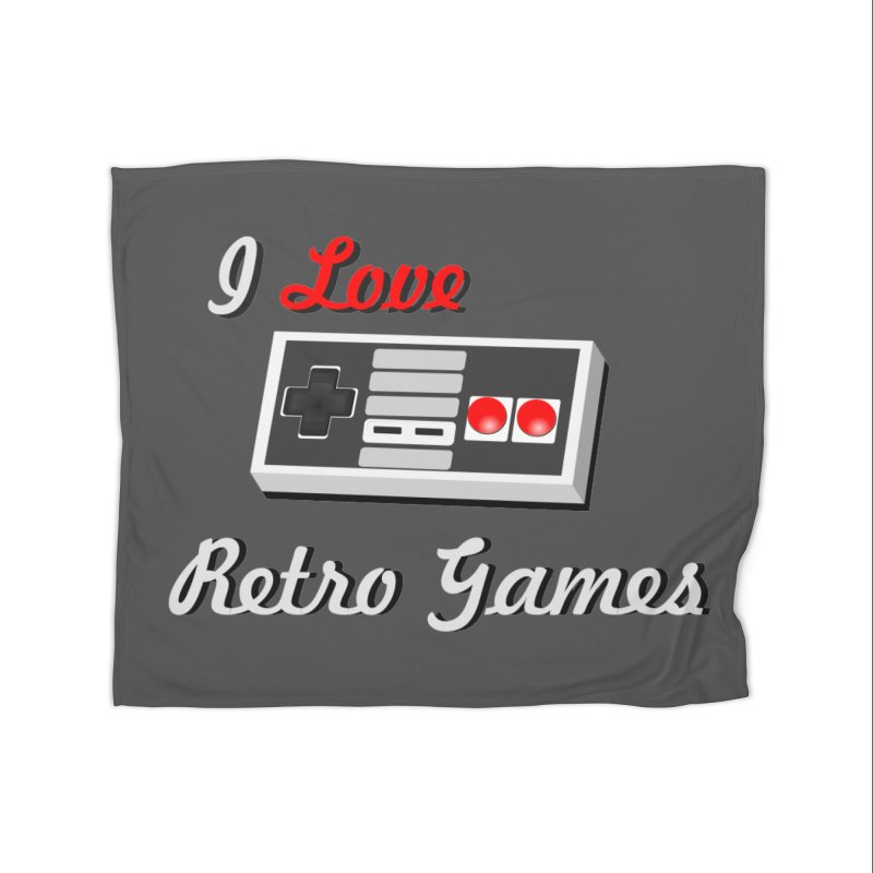 I Love Retro Games Home Fleece Blanket Blanket by chicharostudios's  Shop