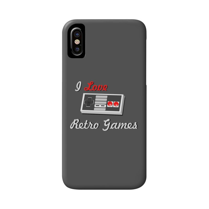I Love Retro Games Accessories Phone Case by chicharostudios's  Shop