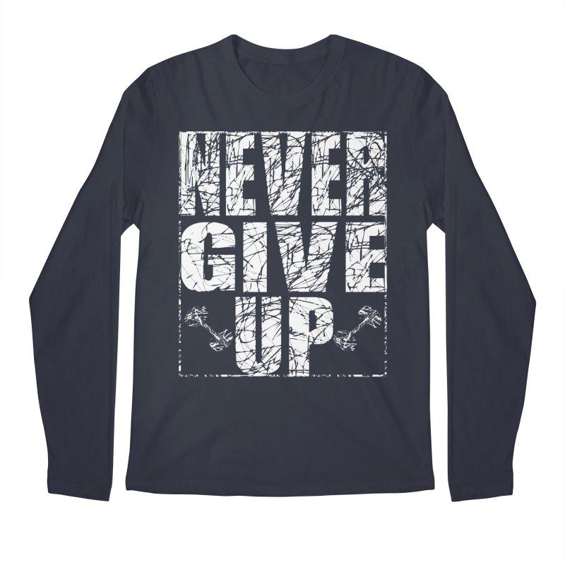 Never Give Up  Men's Regular Longsleeve T-Shirt by chicharostudios's  Shop