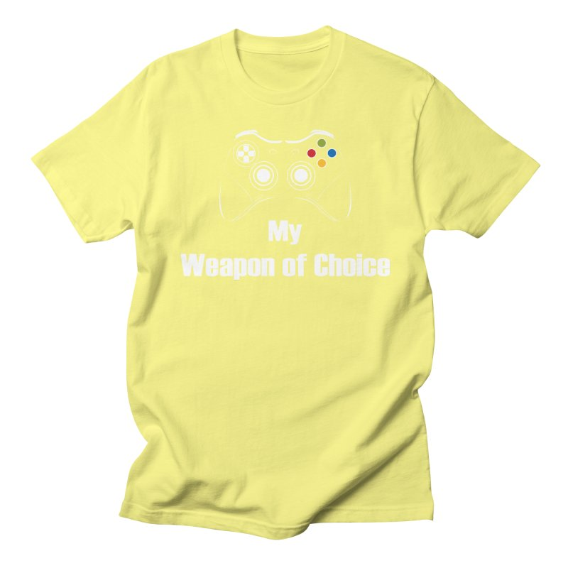 Weapon of choice Men's Regular T-Shirt by chicharostudios's  Shop