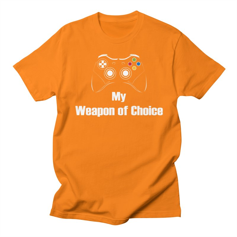 Weapon of choice Women's Regular Unisex T-Shirt by chicharostudios's  Shop