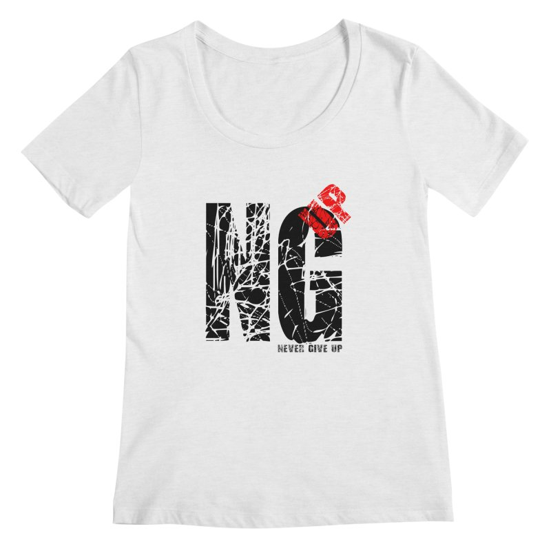 NG UP Women's Regular Scoop Neck by chicharostudios's  Shop
