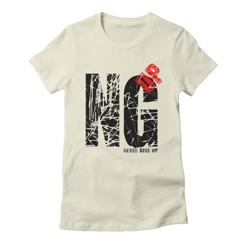NG UP Women's Fitted T-Shirt by chicharostudios's  Shop