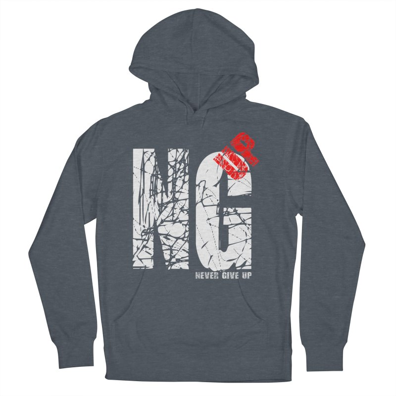 NG UP White Men's French Terry Pullover Hoody by chicharostudios's  Shop