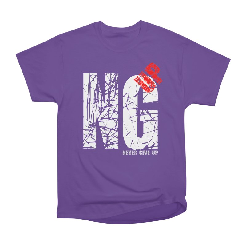 NG UP White Men's Heavyweight T-Shirt by chicharostudios's  Shop