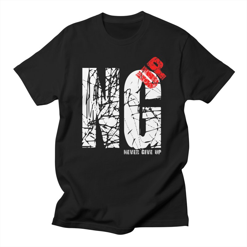 NG UP White Men's Regular T-Shirt by chicharostudios's  Shop