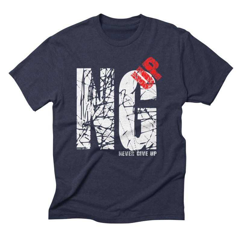 NG UP White Men's Triblend T-Shirt by chicharostudios's  Shop