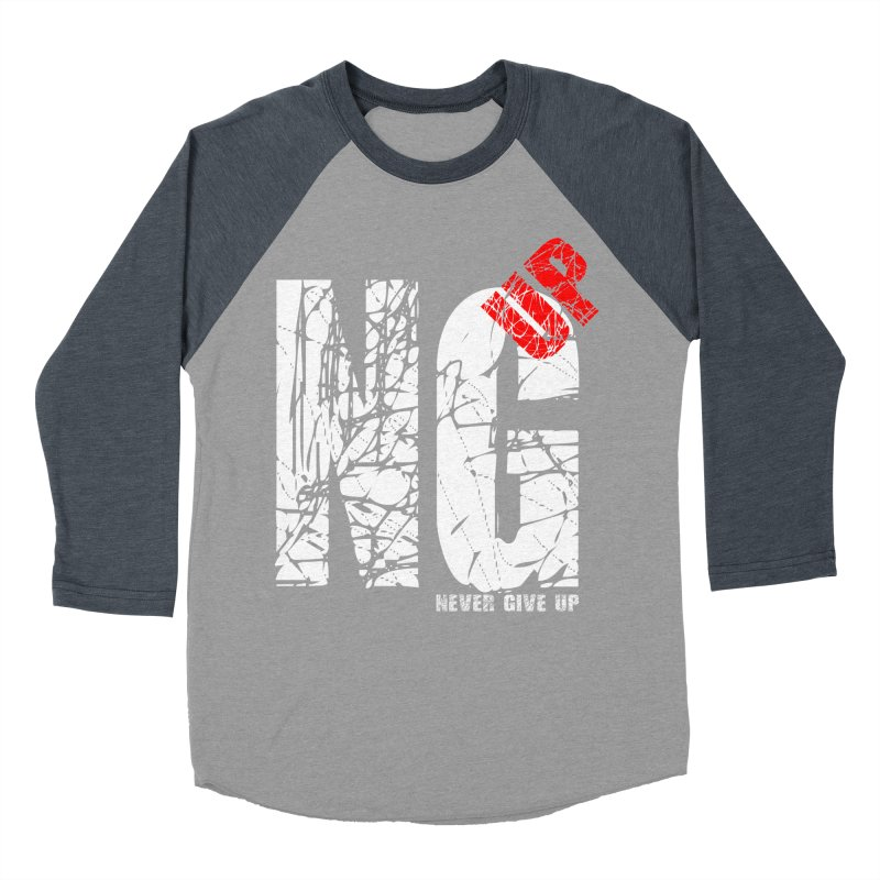 NG UP White Women's Baseball Triblend Longsleeve T-Shirt by chicharostudios's  Shop
