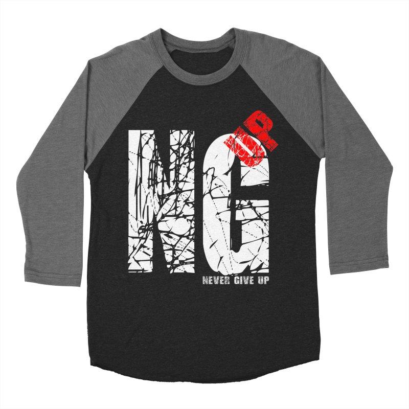 NG UP White Men's Baseball Triblend Longsleeve T-Shirt by chicharostudios's  Shop