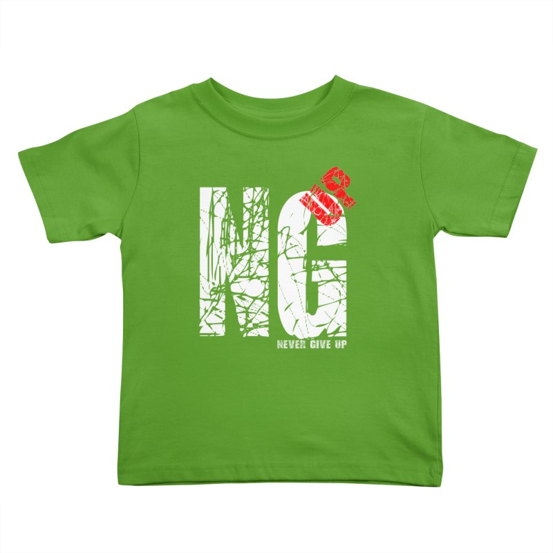 NG UP White Kids Toddler T-Shirt by chicharostudios's  Shop