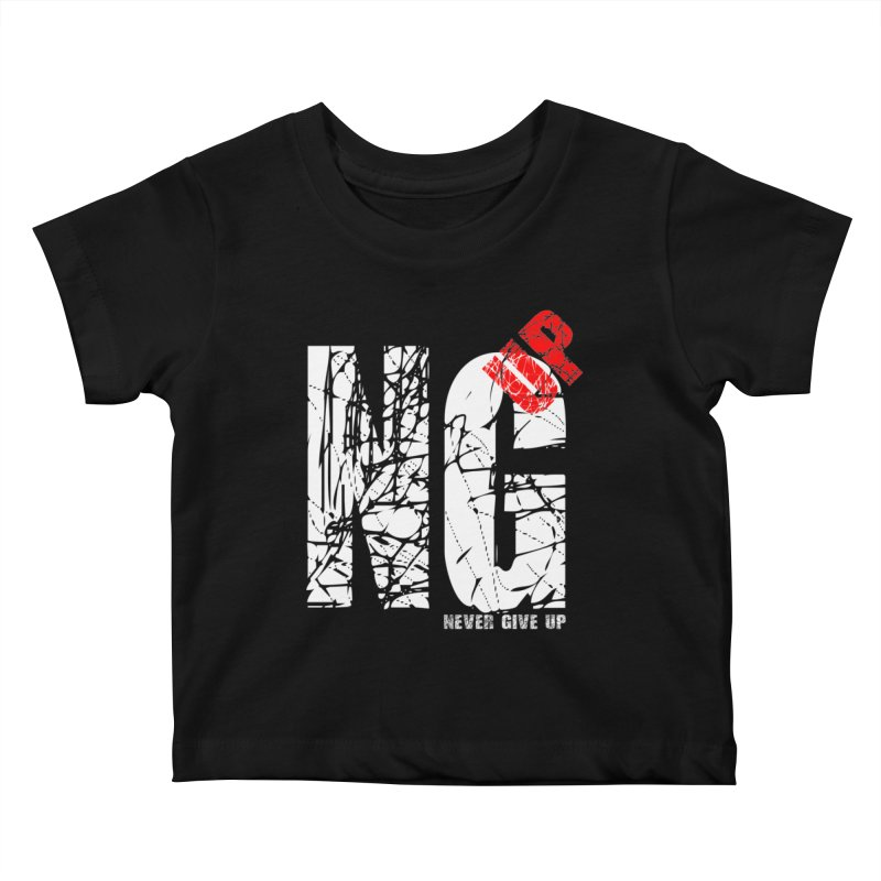 NG UP White Kids Baby T-Shirt by chicharostudios's  Shop