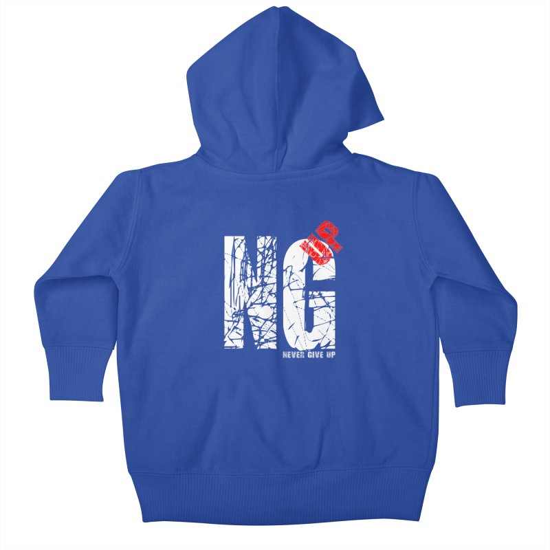 NG UP White Kids Baby Zip-Up Hoody by chicharostudios's  Shop