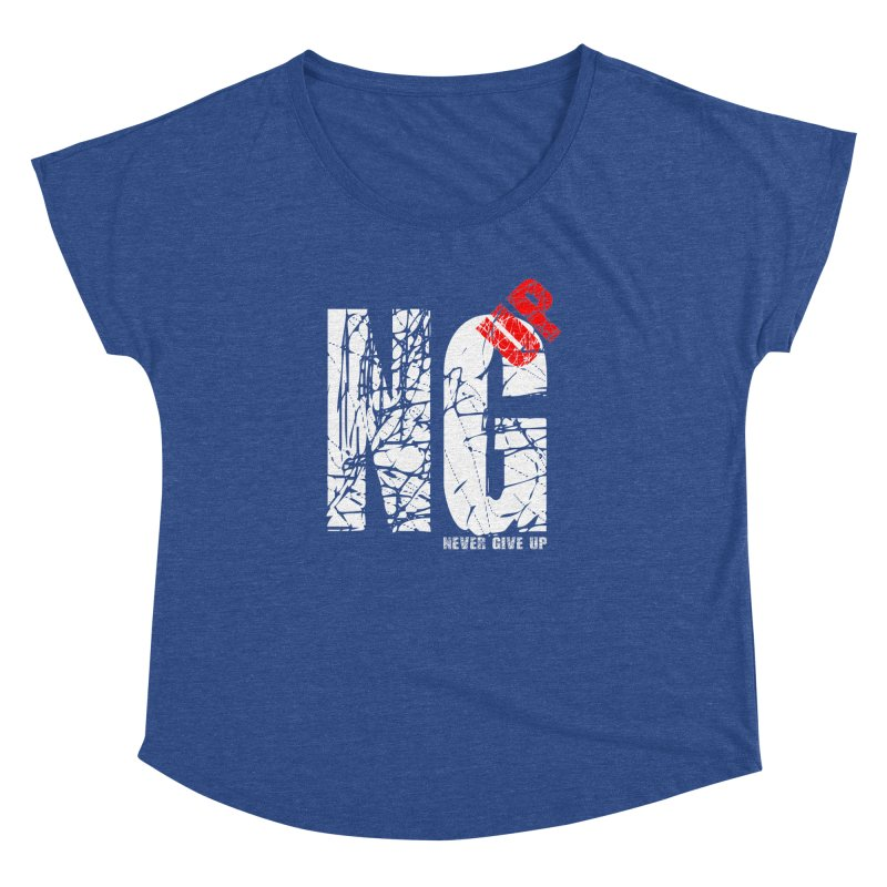 NG UP White Women's Dolman Scoop Neck by chicharostudios's  Shop