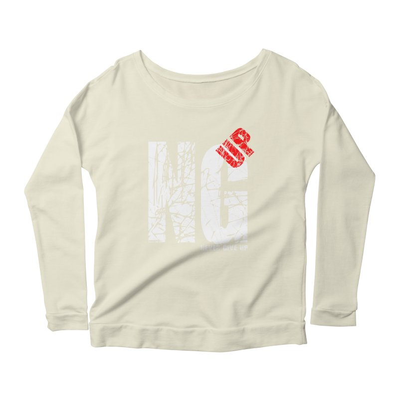 NG UP White Women's Scoop Neck Longsleeve T-Shirt by chicharostudios's  Shop