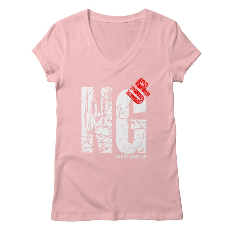 NG UP White Women's Regular V-Neck by chicharostudios's  Shop