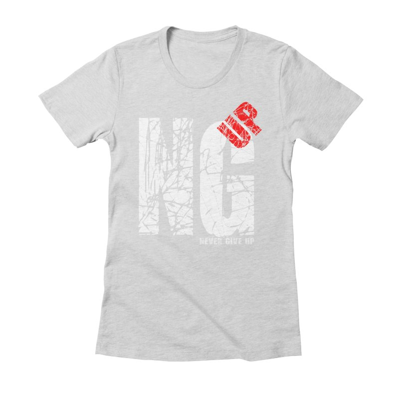 NG UP White Women's Fitted T-Shirt by chicharostudios's  Shop