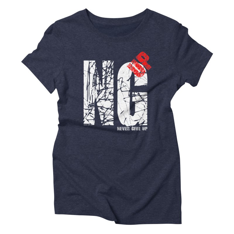 NG UP White Women's Triblend T-Shirt by chicharostudios's  Shop