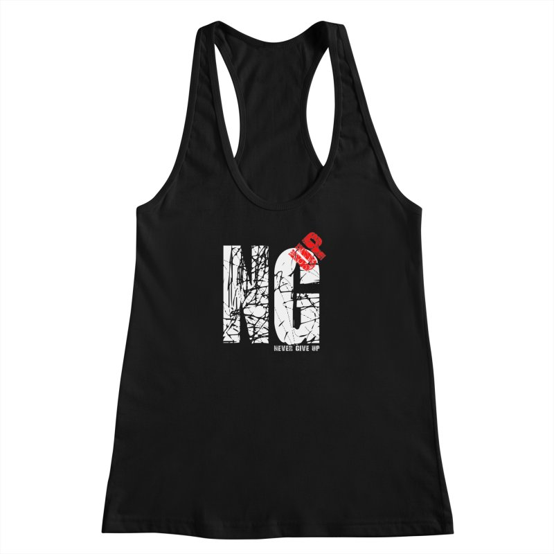 NG UP White Women's Racerback Tank by chicharostudios's  Shop