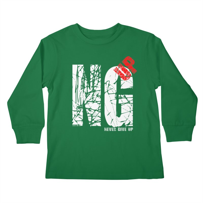 NG UP White Kids Longsleeve T-Shirt by chicharostudios's  Shop