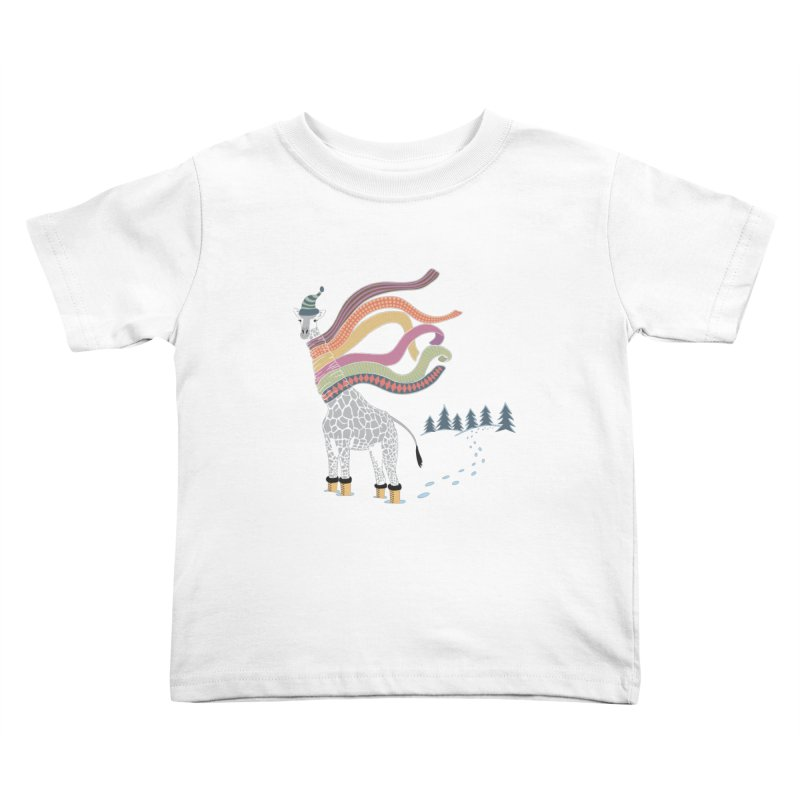 The Snow Giraffe Kids Toddler T-Shirt by Chick & Owl Artist Shop