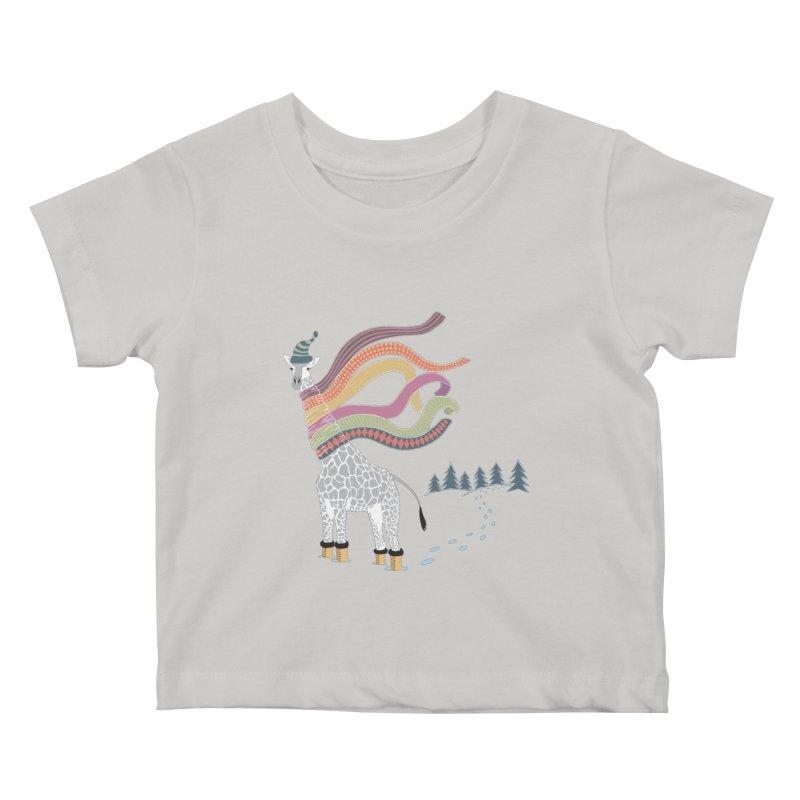 The Snow Giraffe Kids Baby T-Shirt by Chick & Owl Artist Shop