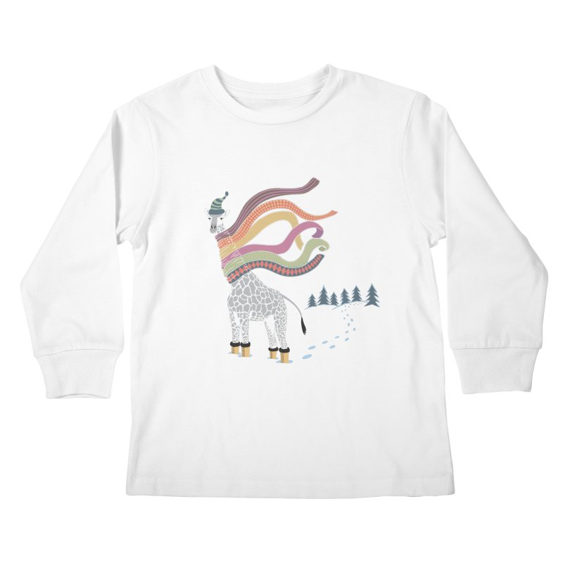 The Snow Giraffe Kids Longsleeve T-Shirt by Chick & Owl Artist Shop