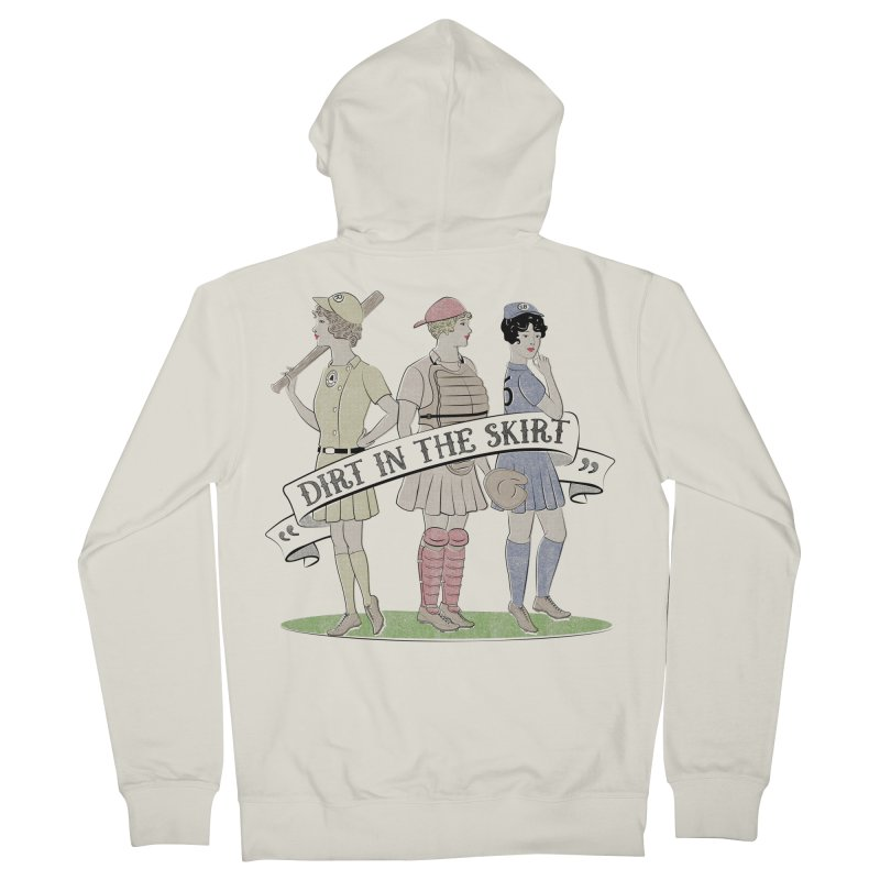 Dirt in the Skirt Men's French Terry Zip-Up Hoody by Chick & Owl Artist Shop
