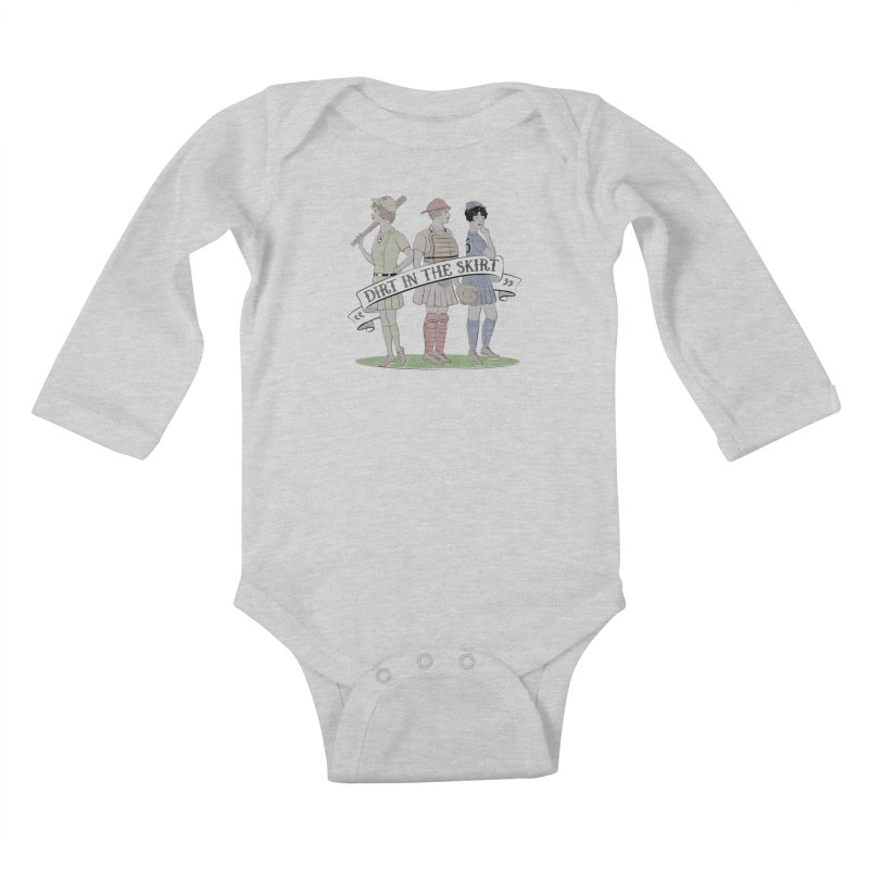 Dirt in the Skirt Kids Baby Longsleeve Bodysuit by Chick & Owl Artist Shop