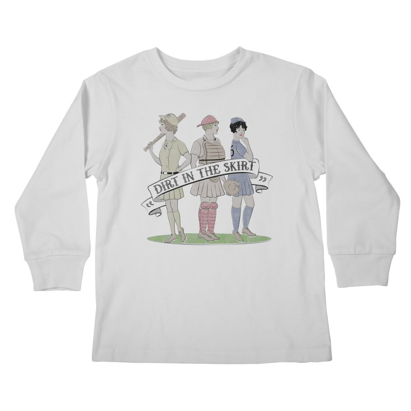 Dirt in the Skirt Kids Longsleeve T-Shirt by Chick & Owl Artist Shop