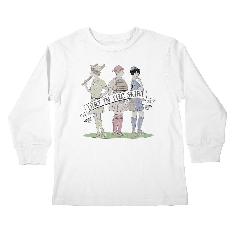 Dirt in the Skirt Kids Longsleeve T-Shirt by Chick & Owl Artist Shop