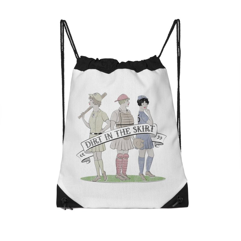 Dirt in the Skirt Accessories Drawstring Bag Bag by Chick & Owl Artist Shop
