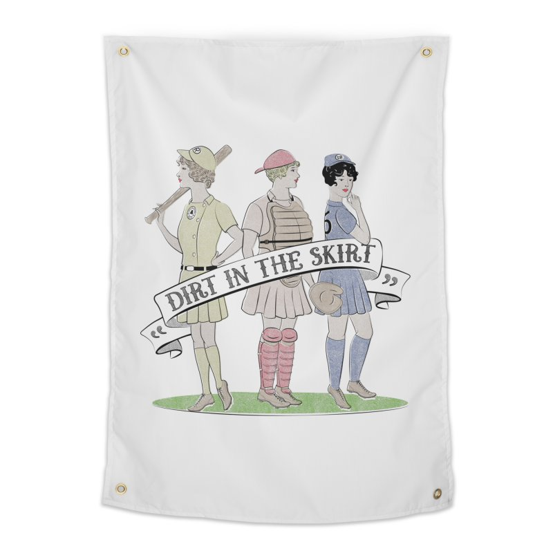Dirt in the Skirt Home Tapestry by Chick & Owl Artist Shop