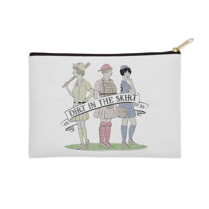 Dirt in the Skirt Accessories Zip Pouch by Chick & Owl Artist Shop